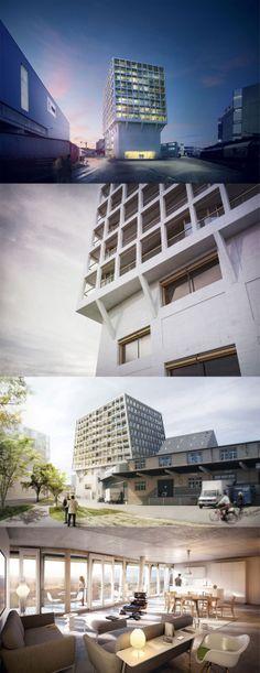 Helsinki Dreispitz  Münchenstein/Basel, Switzerland  Project 2007 – planned completion 2014 - Residential housing & HdM archives center