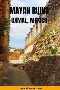 The Phenomenal Mayan Ruins of Uxmal Uxmal Mexico #Mexico #travelMexico #yucatan #mayanruins #templesMexico | visit Yucatan | travel tips Mexico | Mexican Mayan ruines | UNESCO world Heritage | Mayan pyramids | Maya | Mayan culture | Maya ruins | Puuc Route |