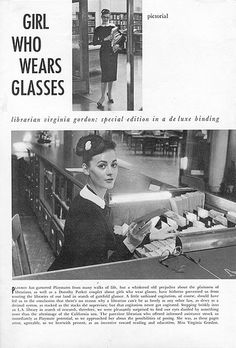 girl who wears glasses by Super Furry Librarian, via Flickr