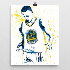 Stephen Curry Golden State Warriors Basketball Poster