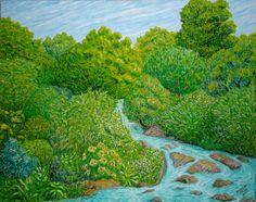Paisaje con río. Óleo sobre lienzo. 2010. 81x65cm 290€