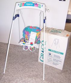 Vintage Graco Swingomatic Wind Up Crank Infant Baby Swing Eco Freindly Clean  #Graco