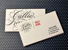 Callie Kant business cards.