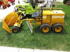 Replica CAT grader at the 65th Latham, Il Ice Cream social W/tractor and car show.