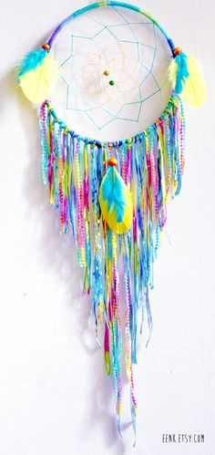 The Coral Reef Large Native Style Woven Dream Catcher by eenk, $69.00