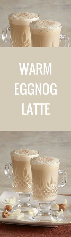 Coffee liqueur adds an extra shot of flavor to this Warm Eggnog Latte.