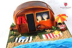 Grey Nomads Caravan cake, by Red Polka-Dot Designs