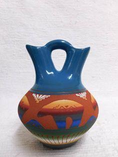 Kachina House has a Native American Navajo Red Clay Wedding Vase with Bears and many other Native American pottery pieces Native American Wedding, Native American Pottery, Wedding Vases, Circle Of Life, Navajo, Unity, Nativity, Bears, Clay