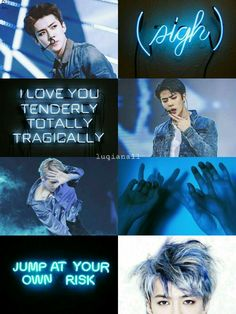 Exo sehun // moodboard Exo Kokobop, Sehun And Luhan, Chanyeol, Aesthetic Collage, Blue Aesthetic, Tao, Wallpapers Kpop, L Wallpaper, Exo Fan Art