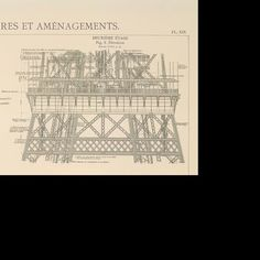 Reproductions des planches originales de Gustave Eiffel - GoogleCulturalInstitute Gustave Eiffel, Tour Eiffel, French Revolution, Tours, France, Eiffel Towers, Early French