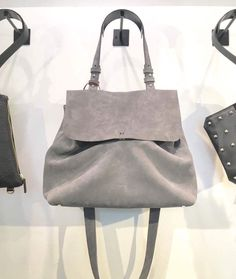 Nowińska baulette No.801. Suede leather, hand sewn finishing. Made in Poland.