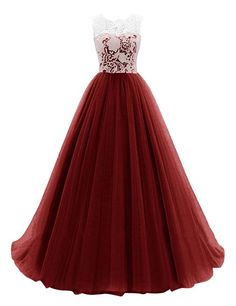 Dresstells Women's Long Tulle Prom Dress Dance Gown with Lace Coral Size 4 Cute Prom Dresses, Dance Dresses, Pretty Dresses, Homecoming Dresses, Beautiful Dresses, Bridesmaid Dresses, Tulle Ball Gown, Tulle Prom Dress, Ball Gowns