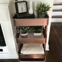 The Ikea Raskog blue cart got a makeover! The blue was not working for me after . - Ikea DIY - The best IKEA hacks all in one place Raskog Ikea, Diy Home Decor Easy, Diy Room Decor, Bedroom Decor, Ikea Cart, Ikea Trolley, Ikea 3 Tier Cart, Ikea Furniture, Luxury Furniture