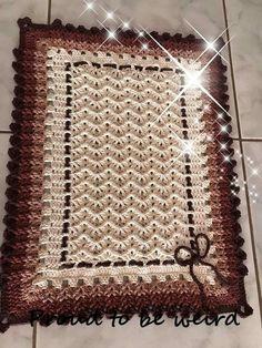 Crochet Doilies, Hand Crochet, Baby Blanket Crochet, Crochet Baby, Knitting Patterns, Crochet Patterns, Crochet Carpet, Crochet Table Runner, Rectangular Rugs