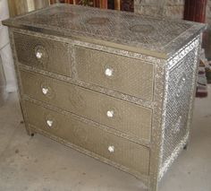 Metal Embossed Chest Of Drawers   Google Search