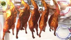 Roasted Duck, Chicken, Grilled Fish Street Food in Cambodia, Asian Stree. Asian Street Food, Best Street Food, Food Challenge, Grilled Fish, Food Videos, Bacon, Roast, Cooking, Breakfast