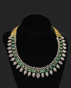 There are diamond pendants that cover a full variety of hues. Diamonds are positioned in several different color categories. Colorless and white are 2 of them. Diamond Necklace Set, Diamond Pendant, Emerald Necklace, Indian Diamond Necklace, Gold Necklace, Black Earrings, Emerald Jewelry, Diamond Jewelry, Gold Jewelry