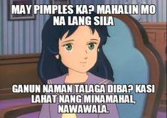 Funny Hugot Lines, Hugot Lines Tagalog Funny, Tagalog Quotes Hugot Funny, Hugot Quotes, Memes Pinoy, Memes Tagalog, Pinoy Quotes, Funny Asian Memes, Love Memes Funny