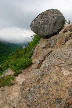 Bubble Rock Acadia National Forest/Park, Maine.  We really made it!!! : )