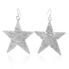 Silver Earrings Made in Italy. Stunning earrings well made in 925 sterling silver. Total item weight 15.0g. Length 86mm.