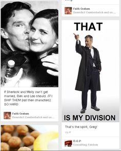 Finally found Lestrade's division. What do ya know, it's mine too. < mission dont let sherlock get married
