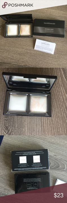 Bareminerals invisible light Brand new, never used. Translucent powder duo. One side is matte and the other is this gorgeous highlighter in glow brilliant. bareMinerals Makeup Luminizer