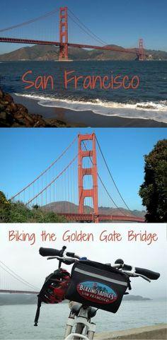 Biking the Golden Gate Bridge on a foggy San Francisco day...
