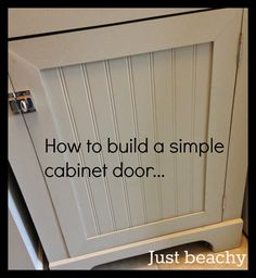 How to build a simple cabinet door for $10-$12 - Detailed tutorial.