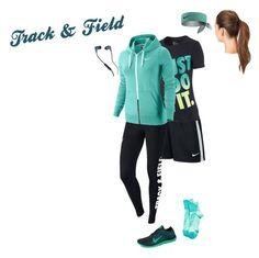 """""""Track and field"""" by hjpnosser ❤ liked on Polyvore featuring NIKE, L. Erickson and Skullcandy"""