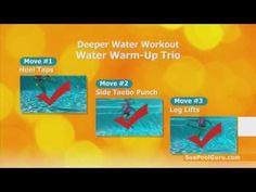 FREE--Pool Exercise--Starter Trio for Deeper Water Cardio +Core Water Aerobics--www.SuePoolGuru.com - YouTube