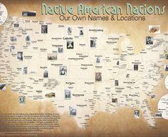 Mapa de las Naciones Tribales: Un mapa de nombres y ubicaciones originales   Arqueología 3.0