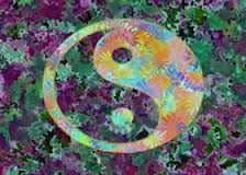 Image result for trippy yin yang art