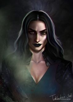 at first i wasnt going to paint her but fuck it… here she is. Blackbeak matron from throne of glass series by @sjmaas