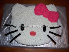 several hello kitty cakes with instructions. Daisy wants a hello kitty cake. Hello Kitty Birthday Cake, Hello Kitty Cupcakes, Cool Birthday Cakes, Birthday Parties, Birthday Ideas, Birthday Decorations, Birthday Favors, Anniversaire Hello Kitty, Birthday Woman