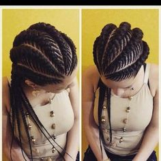 Ghana braids are growing in popularity and are a wonderful style. Check out these unique & hip styles of Ghana braids/Banana braids for your next braids hairdo! Ghana Braids Hairstyles, African Hairstyles, Pretty Hairstyles, Braided Hairstyles, Hairstyle Braid, Hairstyles 2018, Hairstyle Ideas, Stacked Hairstyles, Hairstyle Wedding