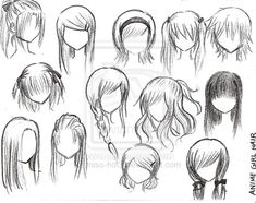 Anime Girl Hairstyles by *miso-baby on deviantART