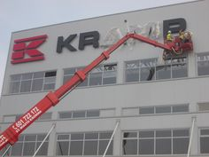 Signage manufacturer, illuminated signage, signs assembly, montaż produkcja reklam, producent reklam, Graffico, pylon signage, 3D  signs, freestanding signs