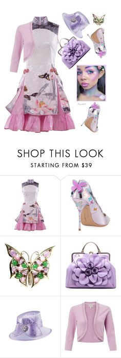 """""""Dreamy Dress"""" by ragnh-mjos ❤ liked on Polyvore featuring Sophia Webster, Giovanna Signature and Monsoon"""