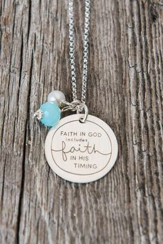 """Faith also includes trust in God's timing."" ~Neal A. Maxwell We are happy to offer you this necklace from the amazing designer Deena Rutter. You can see more of her amazing work and designs at www.de"