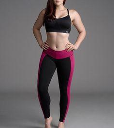 Slimming Black & Pink Leggings by Bon Bon Up 1064