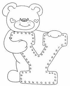 4 Modelos de Alfabeto Completo para Colorir e Imprimir - Online Cursos Gratuitos Colouring Pics, Coloring Sheets, Coloring Books, Felt Patterns, Applique Patterns, Coloring Letters, Alphabet Templates, Embroidery Alphabet, Sewing Appliques