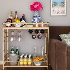 Today on Le Blog  8 fun ways to spice up the bar chez vous!  Click link in bio for #inspiration  Fab  via @nicolegibbonsstyle  #chezpluie #Inspo #mondaymotivation #gardenparty #entertaining #cocktails #happyhour #modernfarmhouse #pastis #apero #cheers #champagne #barcart #drinkstrolley