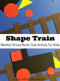 Teach preschoolers their shapes with this fun train shapes activity for kids! Part of our weekly virtual book club for kids. Fun activity for a Polar Express day!