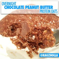 Overnight Chocolate Peanut Butter Protein Oats