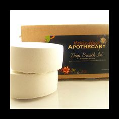 Homespun Apothecary Deep Breath In Shower Disks. Perfect for lung and sinus congestion. #sinuscongestion