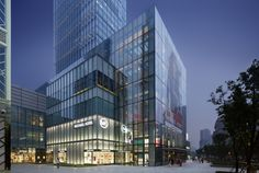 Michael Kors' new flagship store inShanghaiis located inan upscale retail and hotel development called Jing An Kerry Centre.