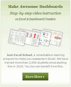 Chandoo.org - Learn Microsoft Excel Online - Excel Tips, Tricks, Charting Tutorials, Download Excel Templates, Excel Formulas and More...