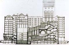 Louis Sullivan - Chicago Auditorium Program generates vastly different spaces: auditorium, hotel, office