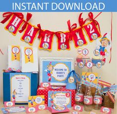 Pinocchio Party DIY Printable Kit  Instant by CreativeLittleStars