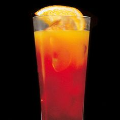 Bonbon of the Vanities ~ Russian Standard Vodka, banana liqueur, peach liqueur, orange juice and Grenadine. Read more: Holiday Drink Recipes - Christmas Drink Recipes - Cocktail Recipes - Marie Claire Christmas Cocktails, Holiday Cocktails, Summer Cocktails, Cocktail Drinks, Cocktail Recipes, Drink Recipes, Orange Cocktail, Cocktail Parties, Refreshing Drinks